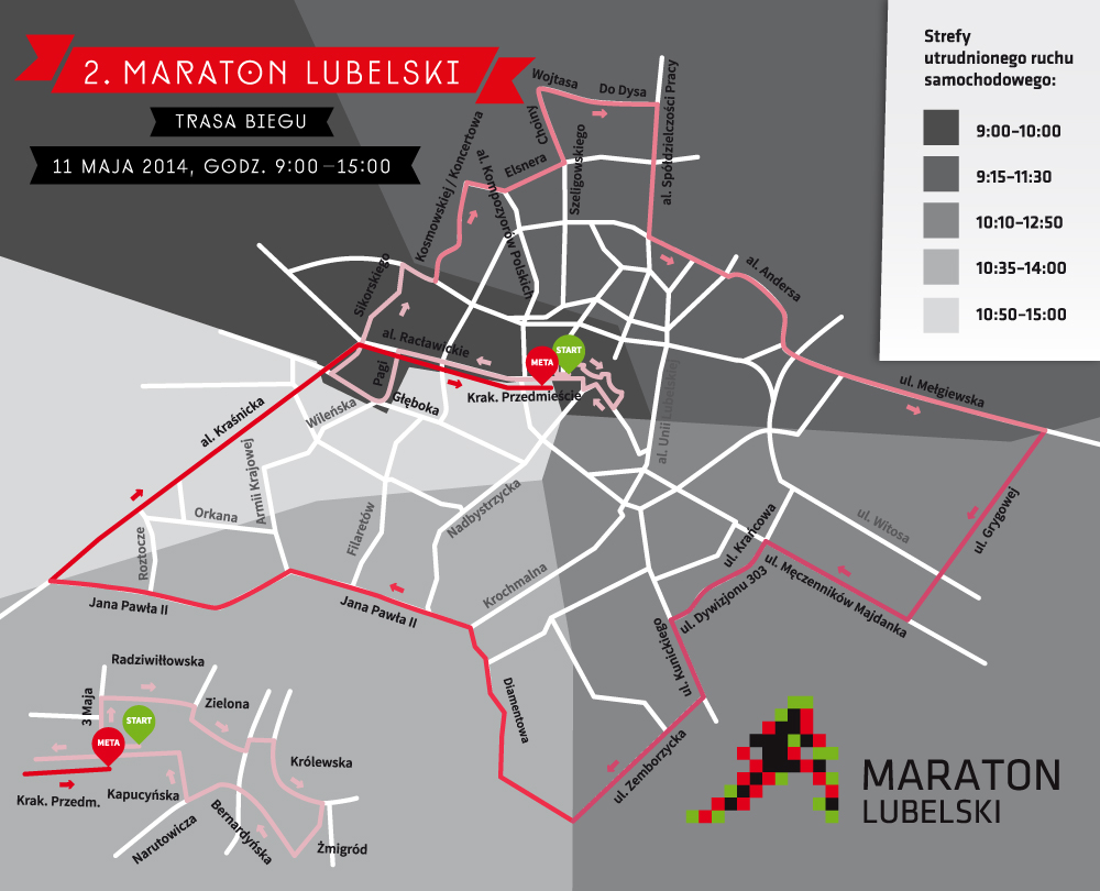 Trasa II Maratonu Lubelskiego